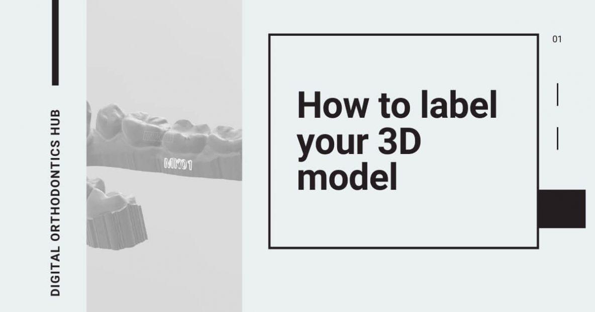 tag 3D dental models